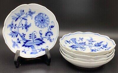 Meissen Blue Onion Coupe Fruit or Cereal Bowls, Set of 5, Cölln -