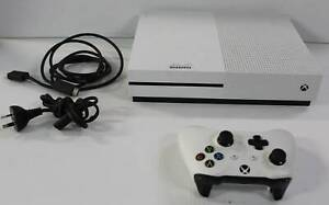Xbox One S 500GB with leads and Control (p202452-1) Deception Bay Caboolture Area Preview