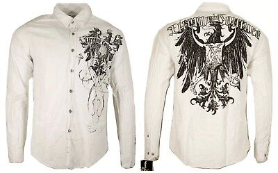 Shadow Cross - Xtreme Couture AFFLICTION Mens BUTTON DOWN Shirt SHADOW CROSS WING UFC Roar $78
