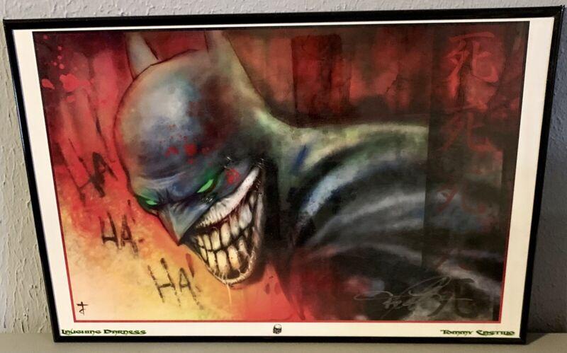 *MINT* Tommy Castillo Autographed Laughing Batman Print 11x17 Framed