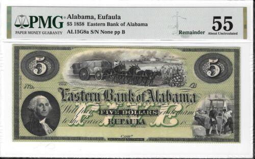 AL15G8a1858 $5 Eastern Bank of Alabama Eufaula PMG 55
