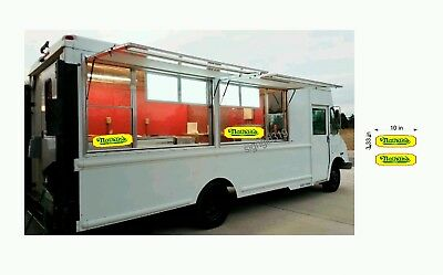 Nathans Famous Hot Dog 10 Concessions Sign Decal Food Hot Dog Cart Sticker Set