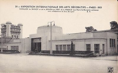 Original 1925 Paris Exposition des Arts Decoratifs Postcard Art Deco BOURGEOIS