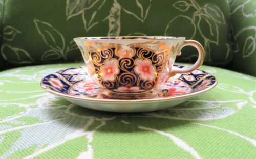 Royal Crown Derby Traditional Imari 2451 Tea Cup & Saucer Set English Bone China