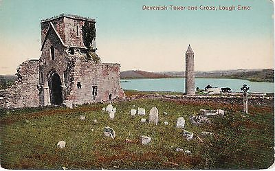 Devenish Tower & Cross, LOUGH ERNE, County Fermanagh