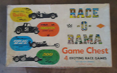 Race-O-Rama Game Chest 3 Exciting Games pre 1961 Warren Games #2002
