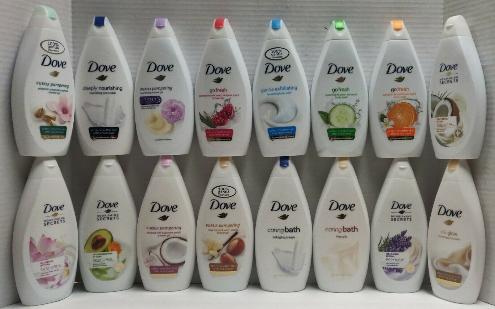 4 Assorted Dove Body Wash Shower Gel Nutrium Moisture -500 m