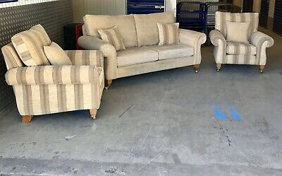 Parker Knoll Faversham Large Two Seater Sofa With 2x Armchairs RRP £3495