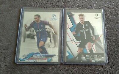 Used, 2017 TOPPS CHAMPIONS LEAGUE Chrome Neymar Junior and Finest Base PSG for sale  Shipping to Nigeria