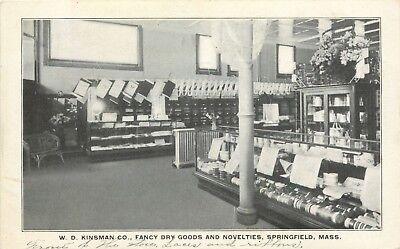 W.D. Kinsman Company, Dry Goods & Novelties, Springfield, Massachusetts MA 1907 (Novelties Company)