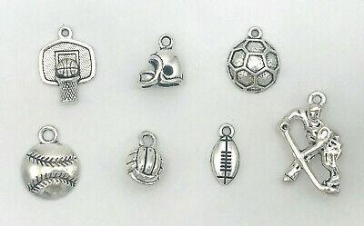 Sports Charms for DIY Bracelet, Necklace, Dangle Pendant DIY Jewelry  (Charms For Charm Bracelet)