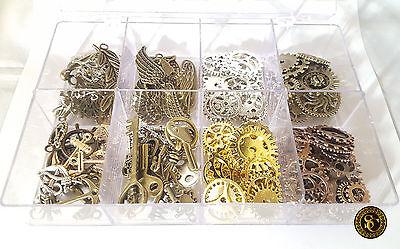 210g Steampunk Zahnräder Schlüssel Bastelzubehör Anker Bronze Kupfer Gold Gears