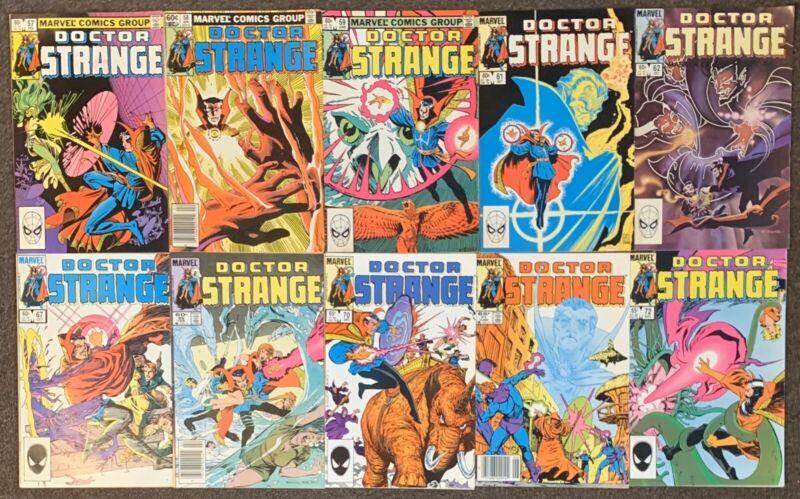 Doctor Strange #57,58,59,60,61,62,67,69,70,71,72 Marvel Comics 1982 Series 2
