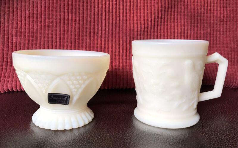 LENOX IMPERIAL GLASS Coffee/Tea Cup/Mug and Dessert Dish/Bowl