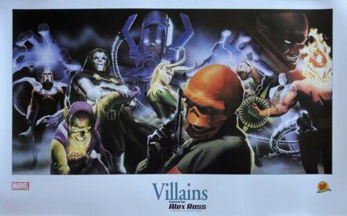 ALEX ROSS rare MARVEL VILLAINS 16x24 print DYNAMIC FORCES 2001 Marvels LAST ONE