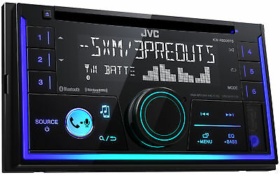 Jvc Kw R930bts 2 Din In Dash Car Stereo Cd Player W Bluetooth Usb Iphone Sirius