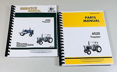 Service Manual Parts Catalog Set For John Deere 4520 Tractor Shop Book Repair