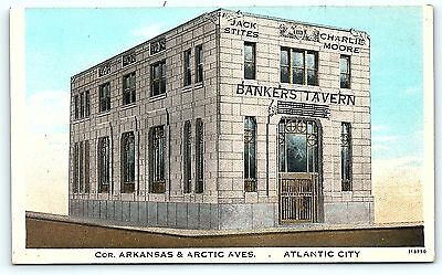 Postcard NJ Atlantic City Atlantic City Bankers Tavern Now The Outlets B4