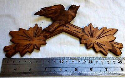 Antique Black Forest Cuckoo Clock Pediment / Crown, Hand Carved
