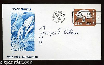 1977 USA NASA Space Shuttle Cover  Signed Joseph P Allen  of NASA