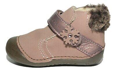 Primigi Girls Flipp Taupe Nubuck Leather Boots Wool Fleece Lining  Taupe Nubuck Schuhe