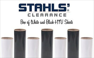 20 Htv Sheets - Box Of 10 Black 10 White - Craft Iron-on Heat Transfer Vinyl