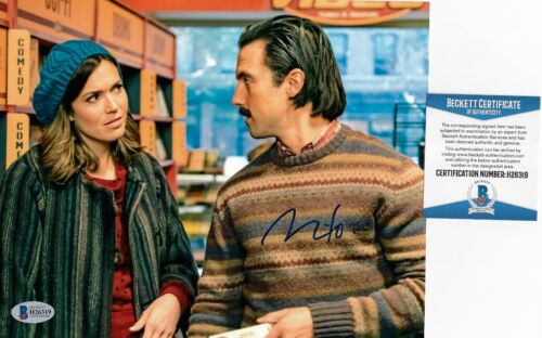 MILO VENTIMIGLIA Signed Jack 8x10 Photo THIS IS US BAS COA Autograph Mandy Moore