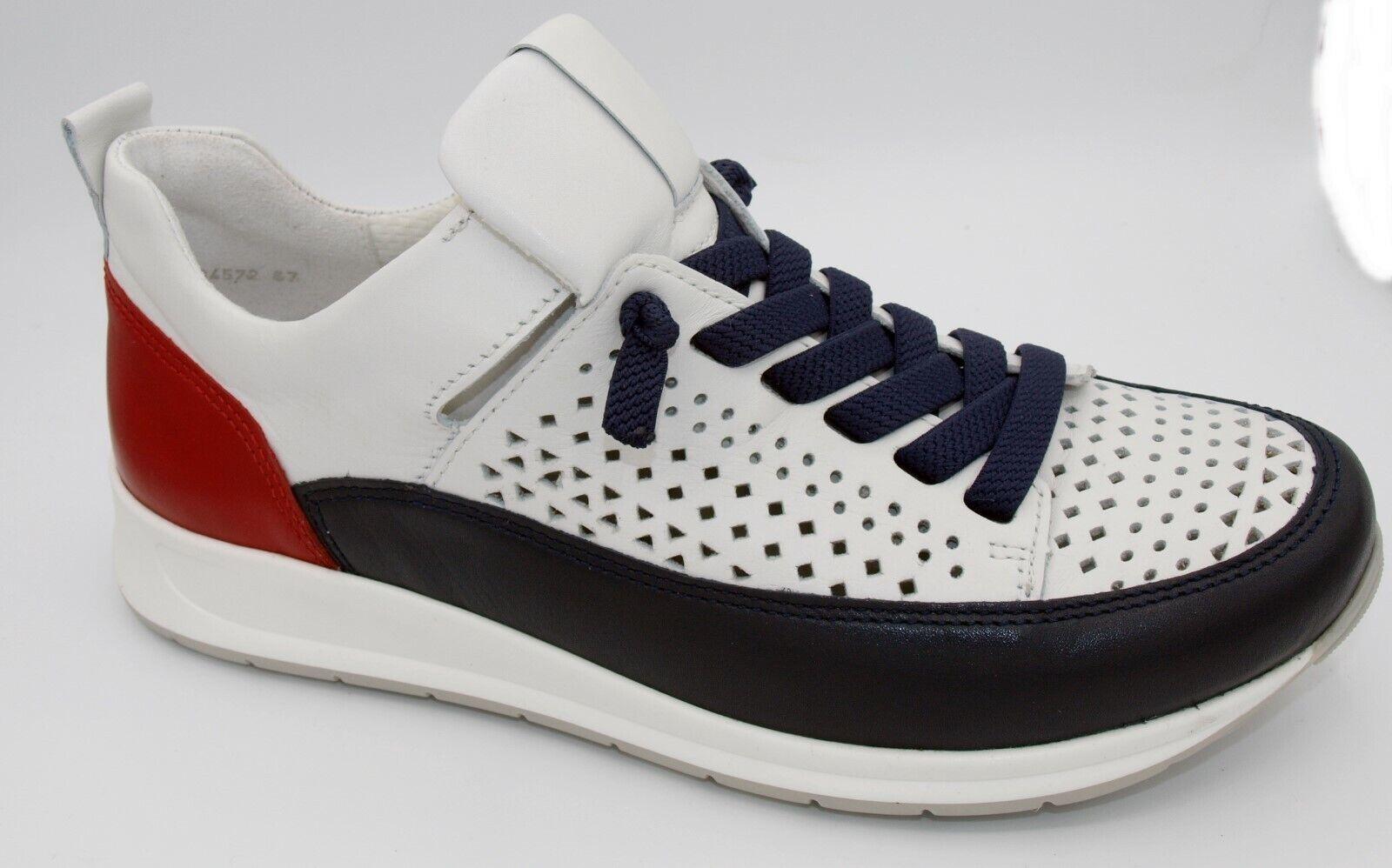 Sonderangebot ara Schuhe Slipper Damen blau weiß rot Weite H Neu 450/4