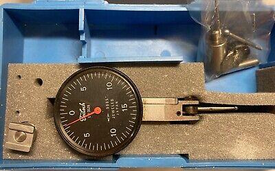 Teclock Lti-352b .030 0-15-0 B Auto-clutch Dial Test Indicator Set .0005 Grads