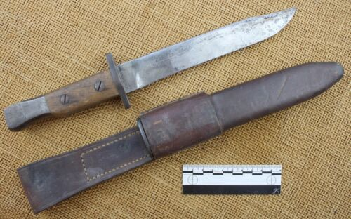 Ross bayonet converted to fighting knife.