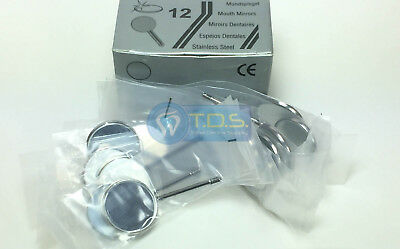 Dental Mouth Mirror Heads Simple Stem 5 Replacement 12 Pcsbox