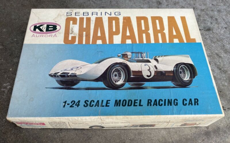 NIB K&B Aurora Sebring Chaparral 1-24 Scale Model Racing Car 1804:800