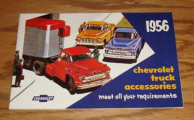 Chevrolet Truck Accessories Brochure - 1956 Chevrolet Truck Accessories Sales Brochure 56 Chevy Pickup