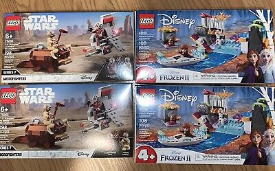 Lot Of 4 Lego Sets Frozen 2 And Star Wars NIB