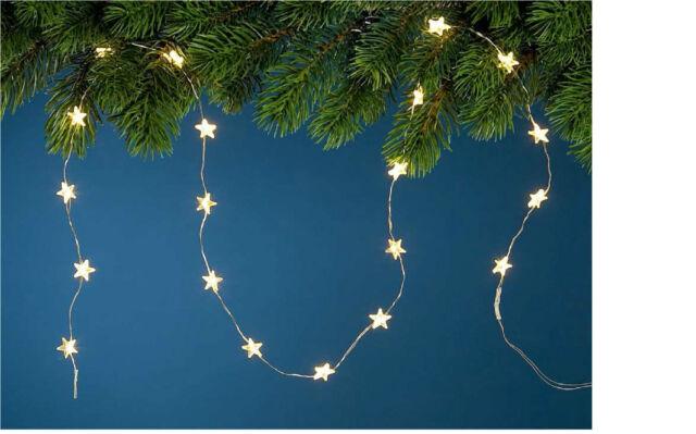 LED -  Lichterkette mit Micro - Sternen / warmweiß ,100 + 95 cm / Indoor