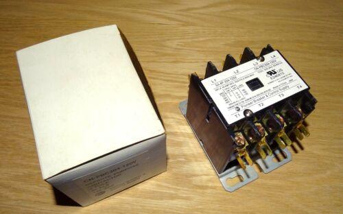 NEW Pioneer 4-Pole Contactor, 30 FLA, 120 Volt AC Coil, Definite Purpose, PBC