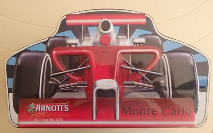 Arnott's Monte Carlo Racing Car Biscuit Tin 500g Greenwood Joondalup Area Preview