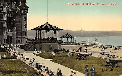 Dufferin Terrace  Quebec Band Concert     Antique Valentine   Sons Postcard
