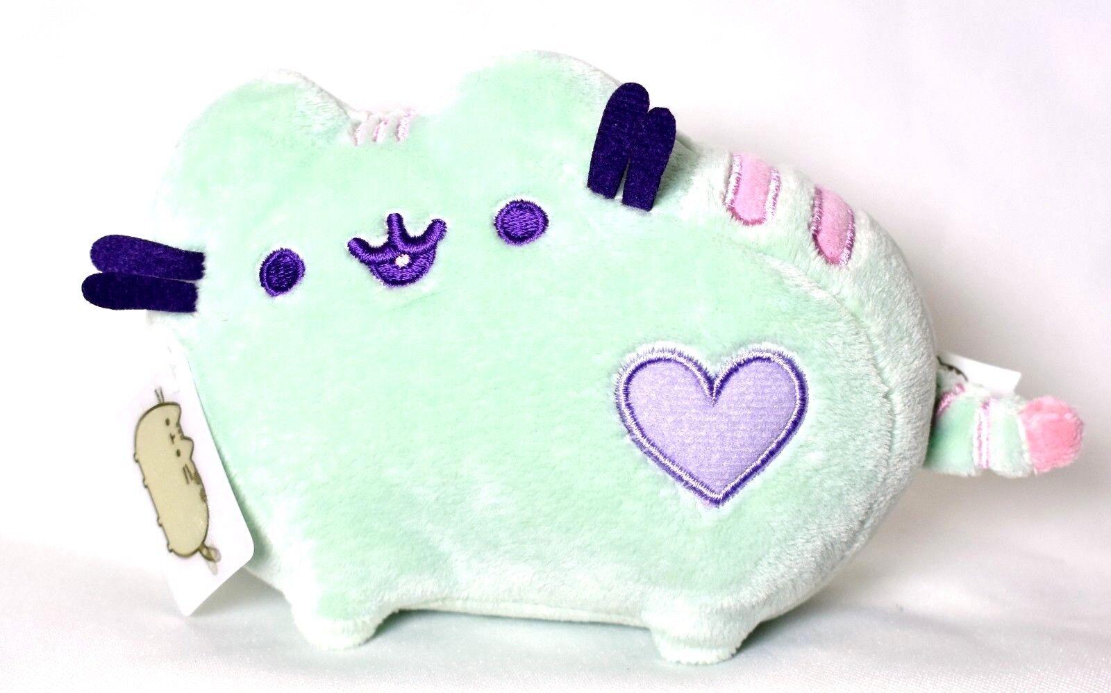 """GUND Pusheen Heart Pastel Stuffed Animal Plush, Green, 6"""""""