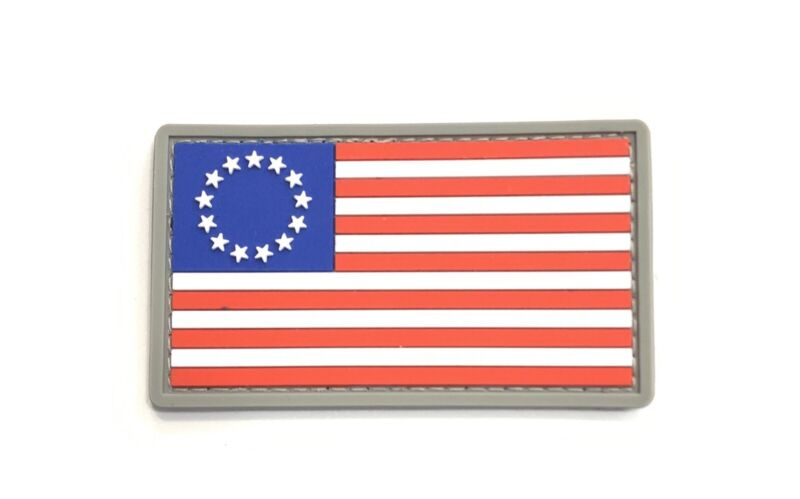 Morale Patch Betsy Ross USA Flag America First Flag  Military Police PVC 3d