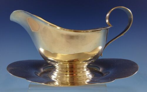 Gorham Sterling Silver Gravy Boat with Attached Underplate #709 (#2422)
