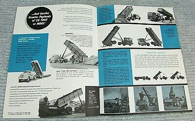 Old 1950s Cook Bros Stabilift Semi Dump Trailer Single Fold Brochure Free Sh