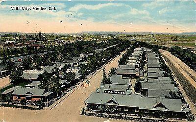 1907 1915 Postcard  Villa City   Office  Venice Ca Los Angeles County Posted