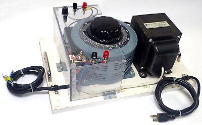 Tested Superior Electric Powerstat 236b Variac 240v W Hammond Transformer 171f