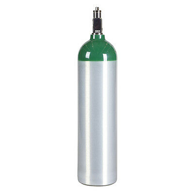 Md Medical D Oxygen Cylinder - New Aluminum - Cga 870 Medical Post Valve