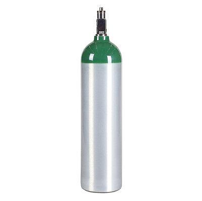 MD D Size 14.6 cu ft Aluminum Medical Oxygen Cylinder Tank - CGA870 Valve - NEW