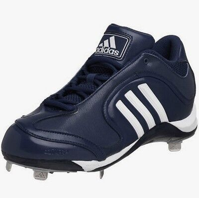 Men's Adidas Excelsior 5 Low Metal Spikes Baseball Cleats Navy Blue Size -