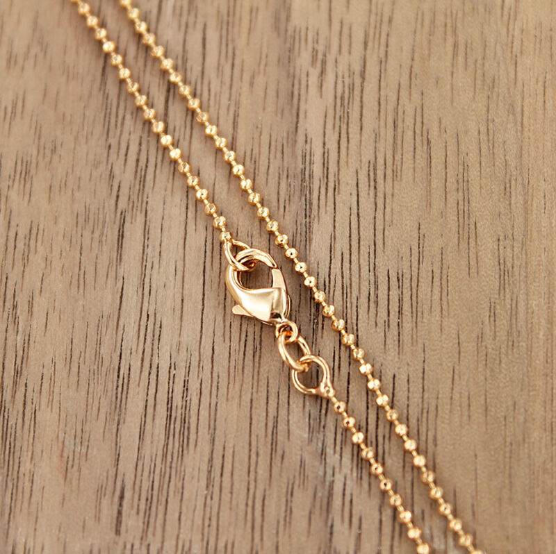 "Gold Tone Ball Chain Necklace 20"" - 1.2mm - 1 Necklace - N483"