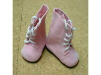 "85mm PINK Patent for Chatty Cathy My Twinn Toddler Baby 20/"" Doll Shoes"