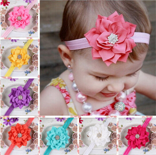 Baby-Girls-Sun-Flower-Hairband-Soft-Elastic-Headband-Hair-Accessories-Band
